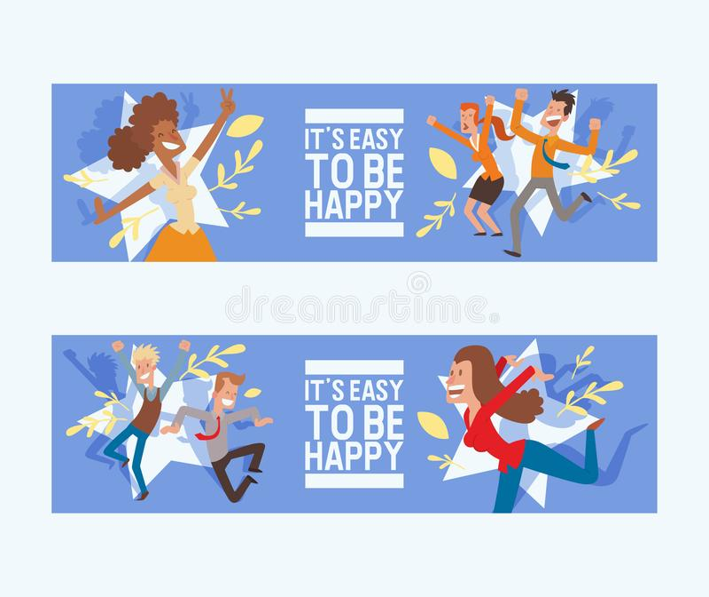Характер женщины или человека счастливого вектора людей скача в деятельности фона иллюстрации счастья и свободы взрослых бесплатная иллюстрация