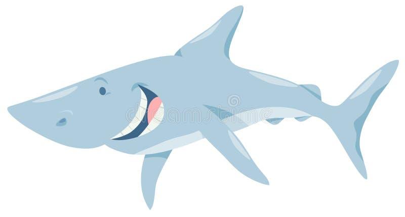 Характер животного рыб акулы шаржа иллюстрация штока