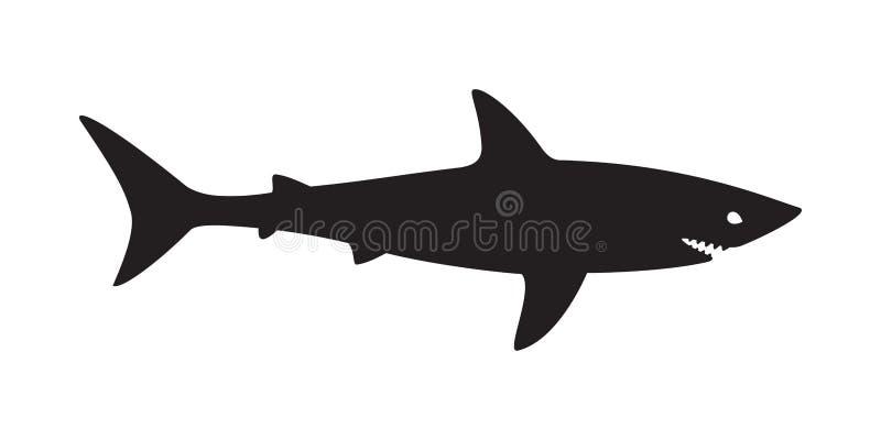 Характер иллюстрации значка рыб логотипа вектора акулы бесплатная иллюстрация