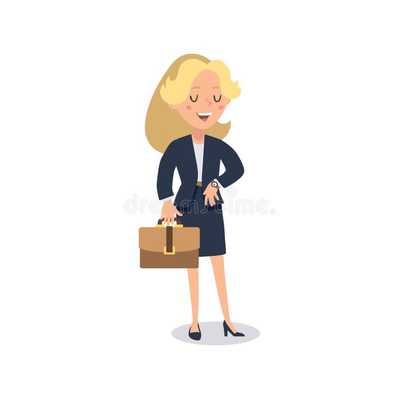 Характер коммерсантки Одушевленный характер Конструктор персонажа молодой дамы Различные позиции женщины Персонаж вектора установ бесплатная иллюстрация