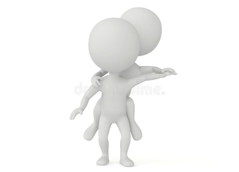 характер пар humanoid 3d счастливый бесплатная иллюстрация