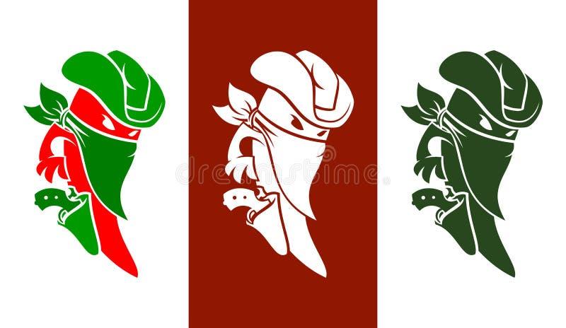 Характер перца Chili мачо стоковые изображения