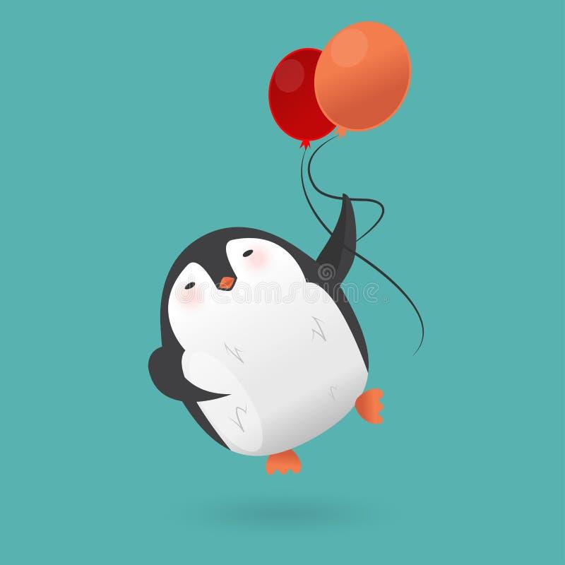 Характер пингвина шаржа птица смешная иллюстрация штока