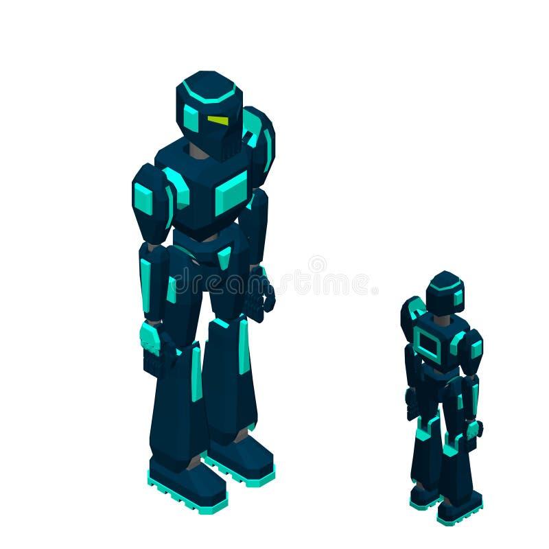 Характер робота белизна изолированная предпосылкой illustr вектора 3d иллюстрация вектора