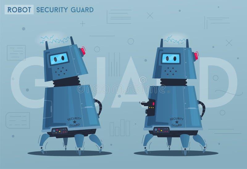 Характер робота Технология, будущее alien кот шаржа избегает вектор крыши иллюстрации иллюстрация штока