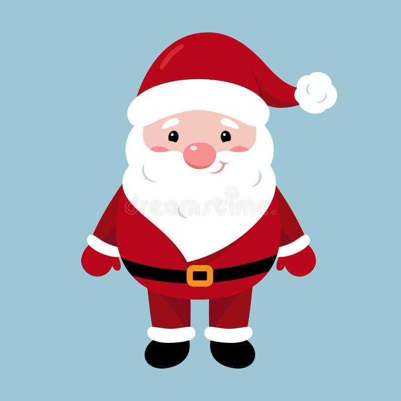 Характер Санта Клауса С Рождеством Христовым и с новым годом Персонаж из мультфильма Санта Клауса бесплатная иллюстрация