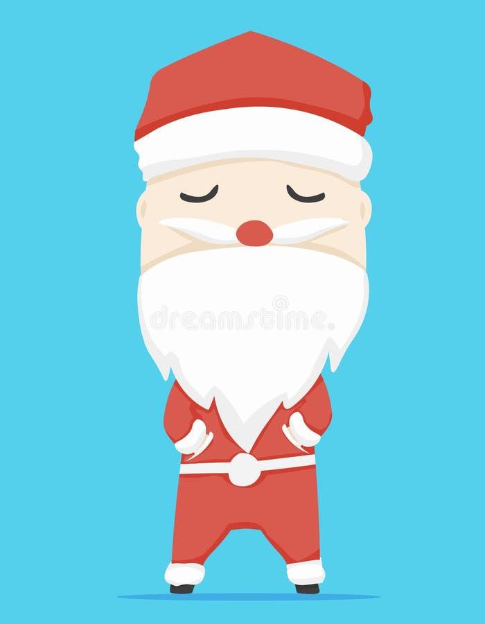 Характер Санта Клауса и шарж значка, иллюстрация вектора стоковое фото