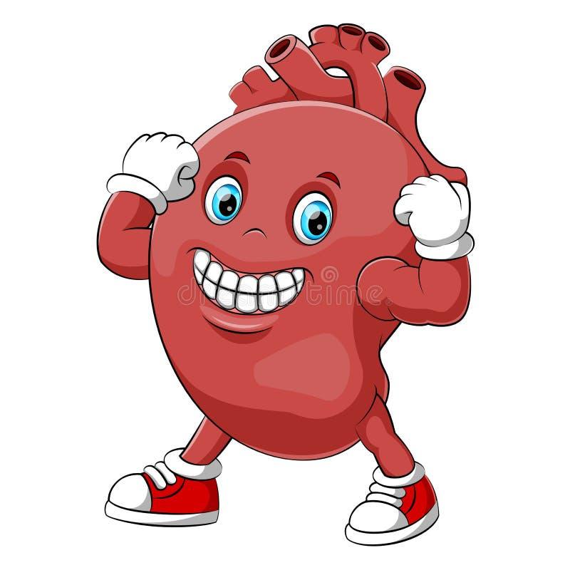 Характер сердца мультфильма сильный человеческий бесплатная иллюстрация