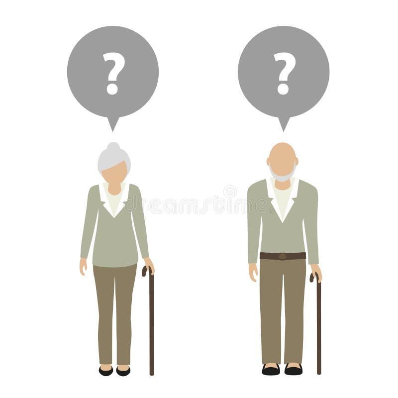Характер старухи и старика имеет вопрос бесплатная иллюстрация