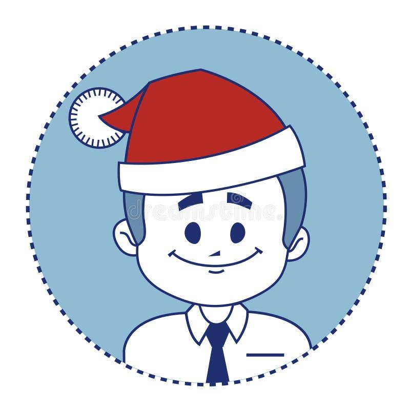 Характер усмехаясь Санта Клаус рождества иллюстрация штока