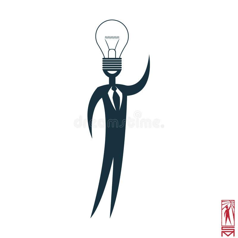 Характер ученого с идеей иллюстрация штока