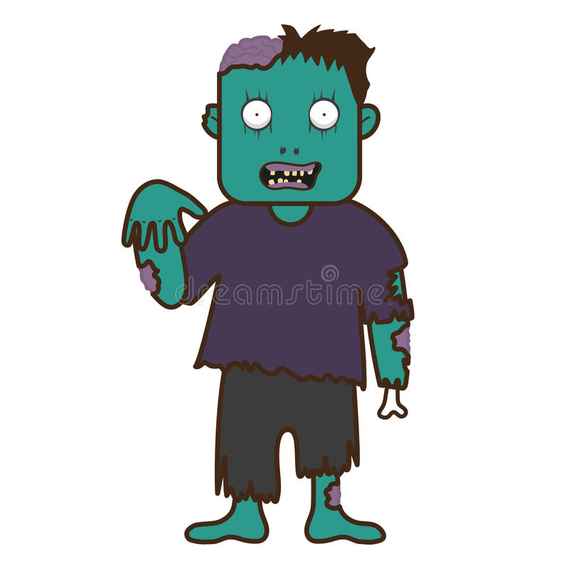 Характер хеллоуина зомби стоковые изображения rf