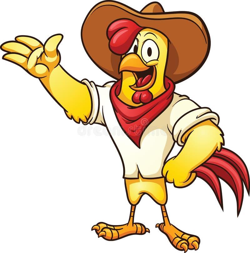 Характер цыпленка фермы бесплатная иллюстрация