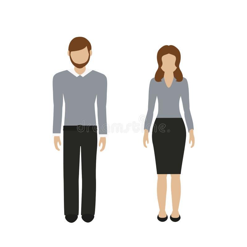 Характер человека и женщины в случайном взгляде дела бесплатная иллюстрация