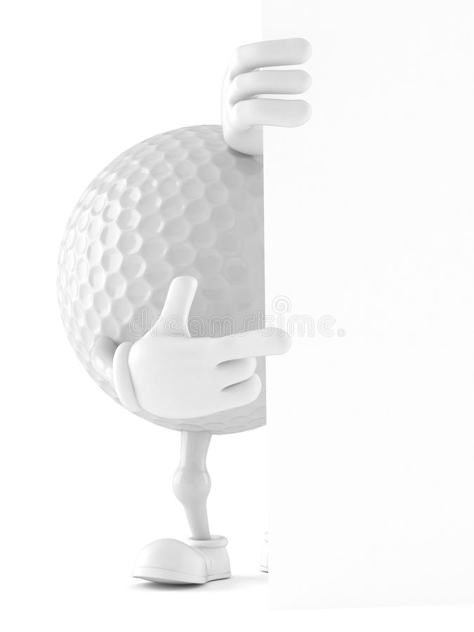Характер шара для игры в гольф бесплатная иллюстрация