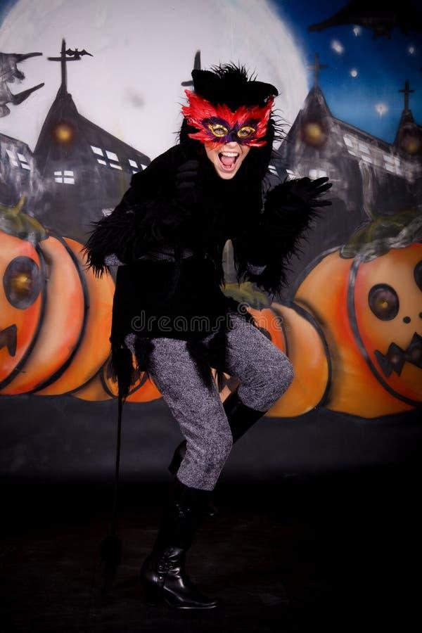 характер halloween кота стоковое фото