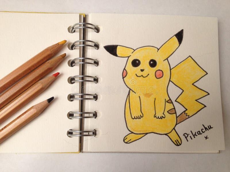 Характер Pikachu Pokemon стоковые изображения rf