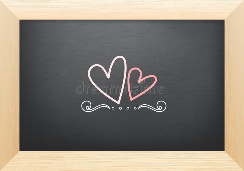Харт на классн классном, валентинке иллюстрация вектора