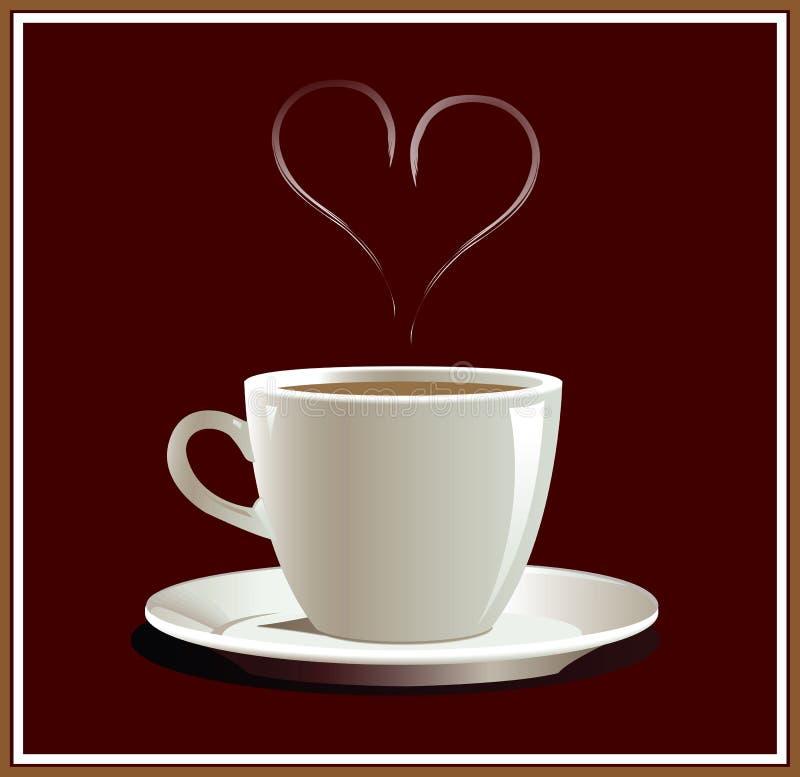 Харт coffe иллюстрация вектора