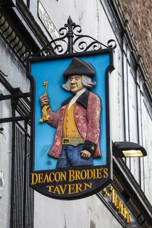 Харчевня Brodies дьякона в Эдинбурге стоковое фото rf