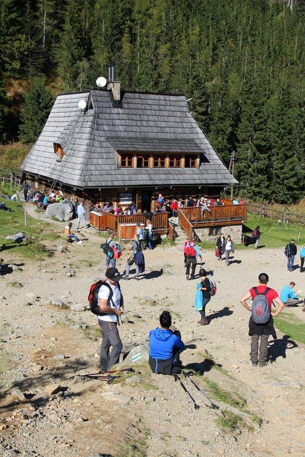 Хата горы в Польше стоковое фото rf