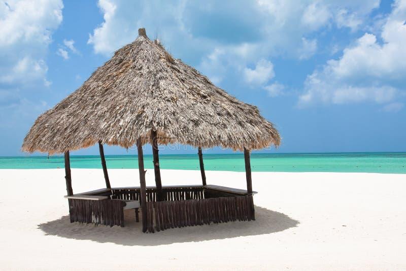 хата пляжа стоковое изображение