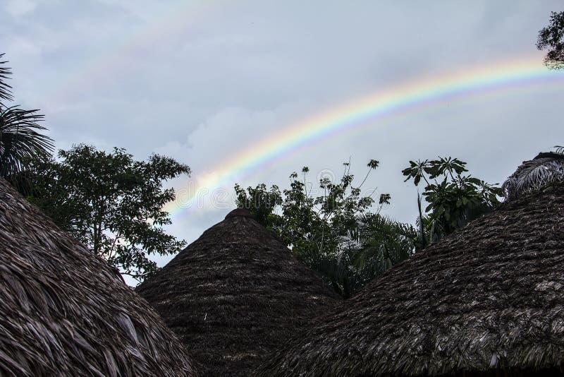 Хата радуги стоковые фото