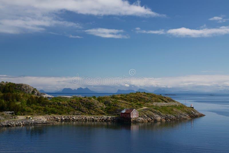 Хата рыболовства на Lofoten стоковое изображение