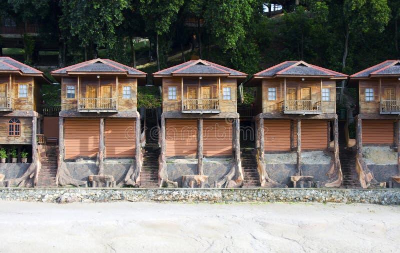 хаты деревянные стоковая фотография