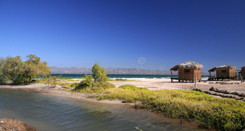 хаты пляжа рисуночные стоковые фото