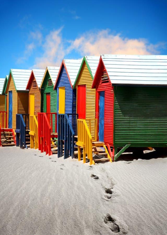 хаты пляжа стоковые фотографии rf
