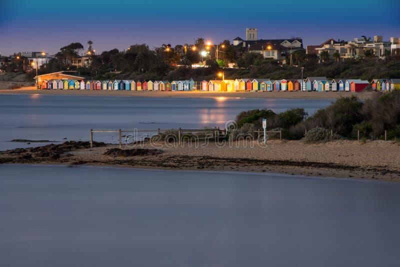 Хаты пляжа Брайтона стоковые изображения