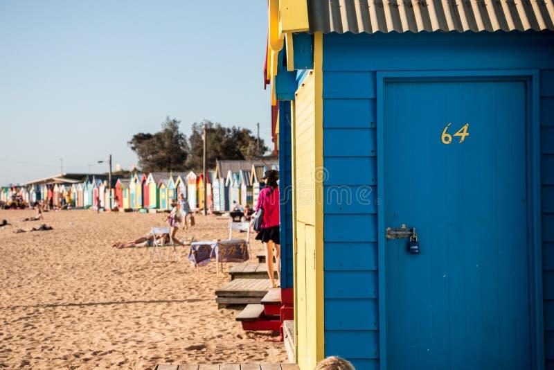 Хаты пляжа Брайтона стоковая фотография rf