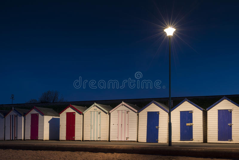 Хаты пляжа Goodrington стоковые изображения