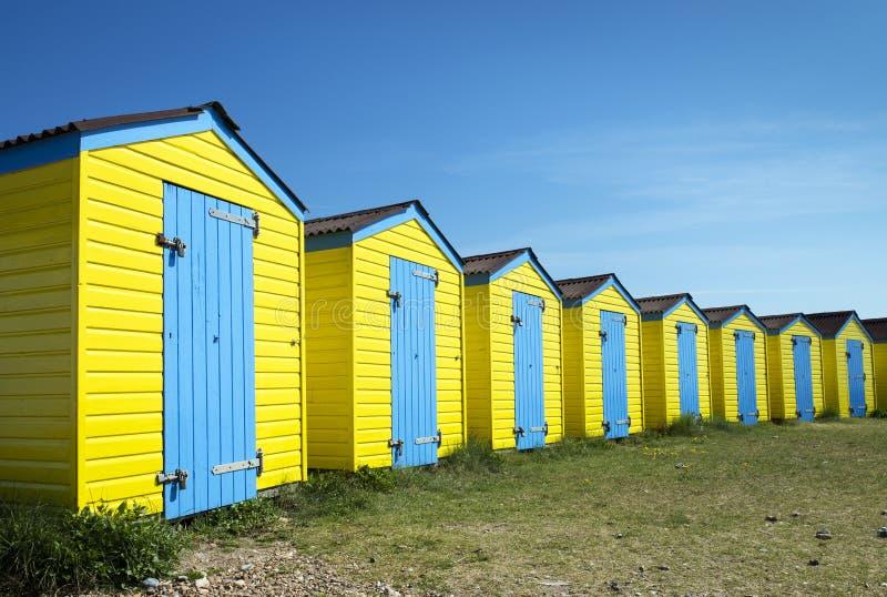 Хаты пляжа Littlehampton стоковое изображение