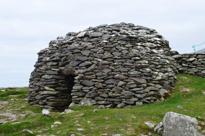 Хаты улья Clochan в Ирландии стоковое фото rf