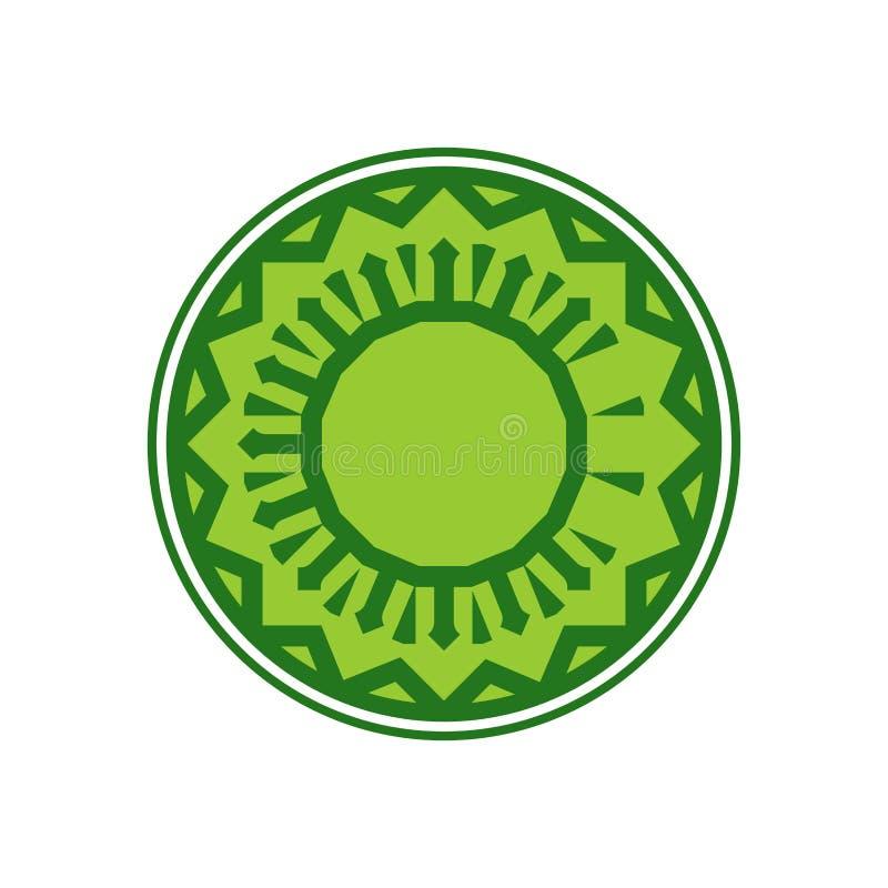 Халяльный шаблон для исламской картины Логотип для правильно сваренного foo бесплатная иллюстрация
