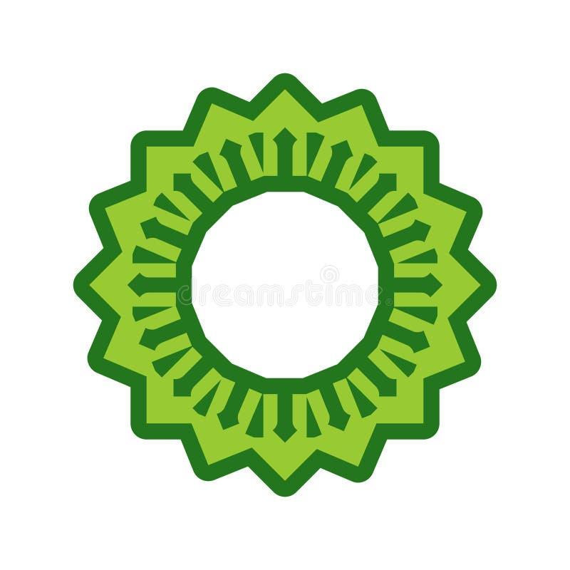 Халяльный шаблон для исламской картины Логотип для правильно сваренного foo иллюстрация штока