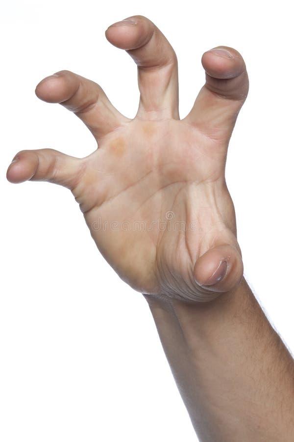 Хватать и ассигнование жеста сделали руку стоковое фото