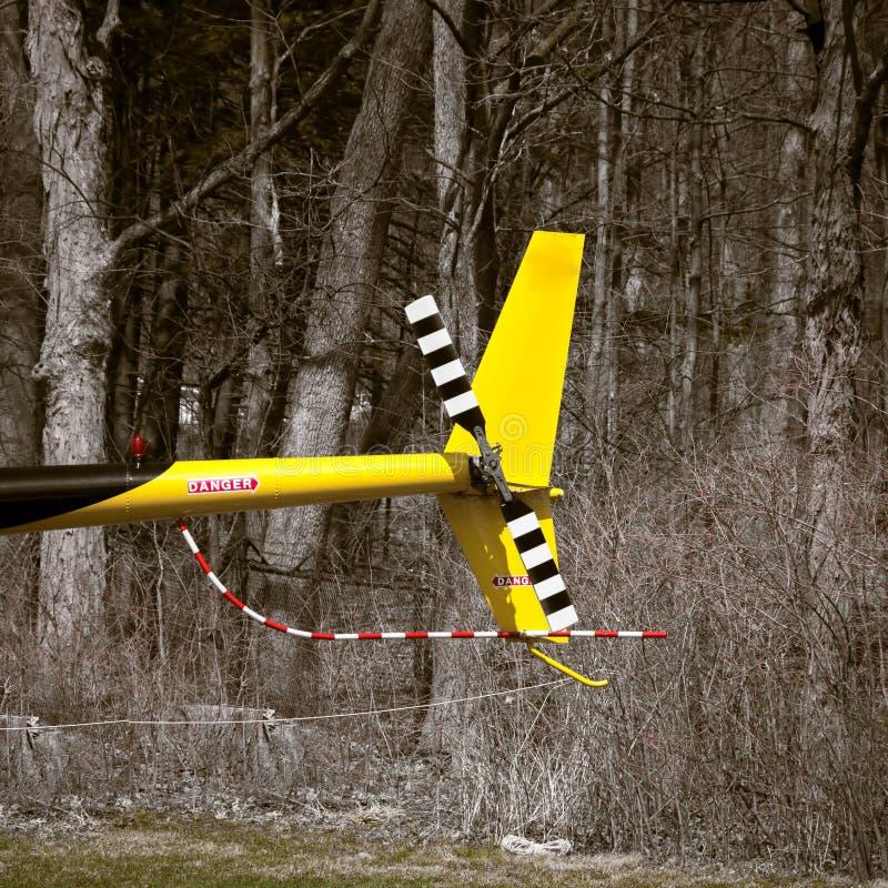 Хвостовой ротор вертолета стоковое изображение rf