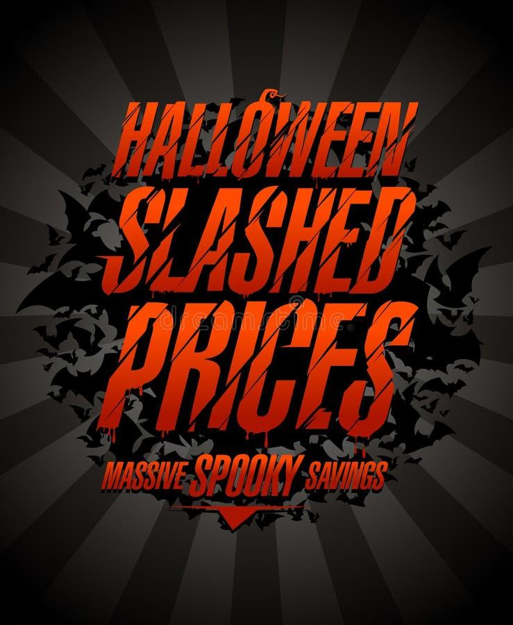 Хеллоуин хлестал цены, массивнейшие пугающие сбережения бесплатная иллюстрация