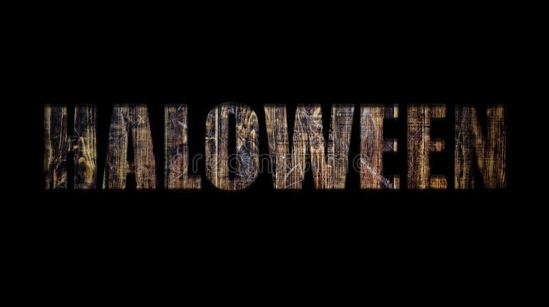 Хеллоуин, шрифт, реклама, приглашение, масленица, партия, торжество, праздник, прозрачность, деревянные доски, пустой дизайн стоковое фото