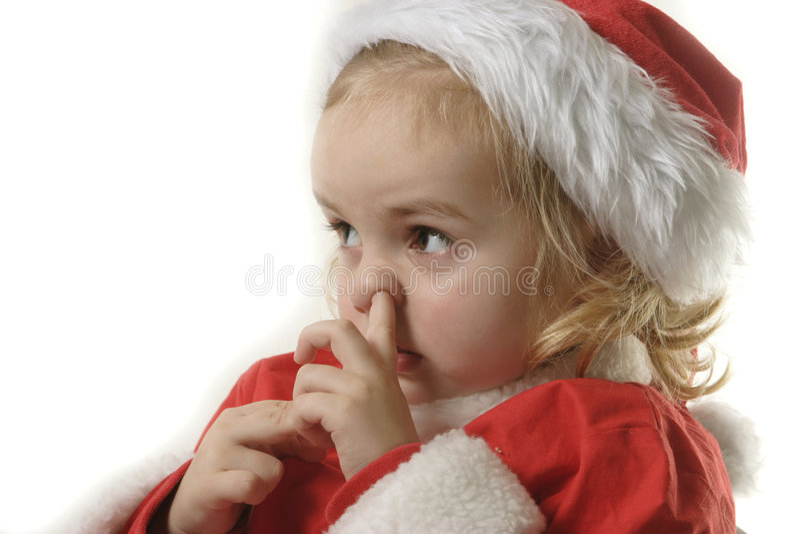 хелпер его рудоразборка santa носа стоковое фото