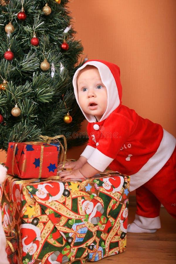 хелпер santa младенца стоковые изображения