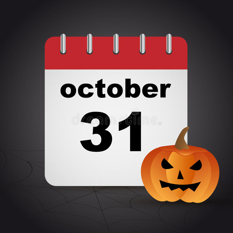 Хеллоуин - 31-ое октября бесплатная иллюстрация