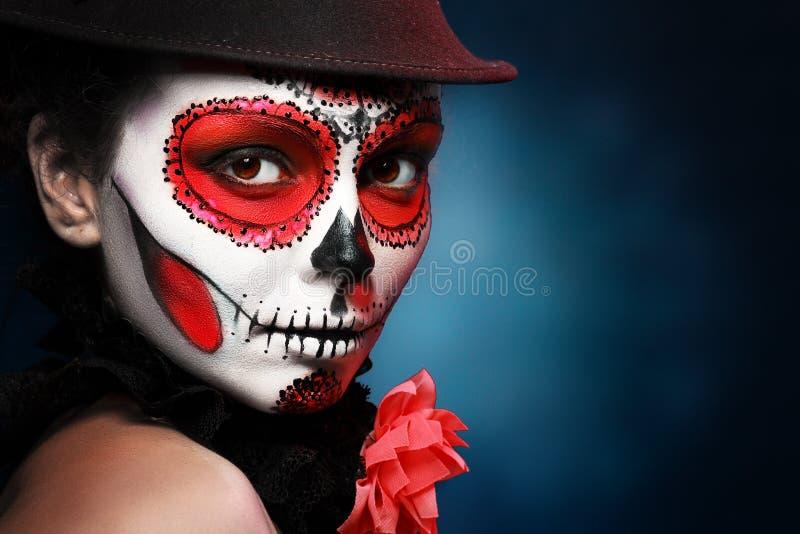 Хеллоуин составляет череп сахара стоковое фото rf