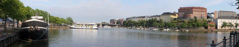 Хельсинки, Финляндия. Панорамный взгляд стоковые фотографии rf