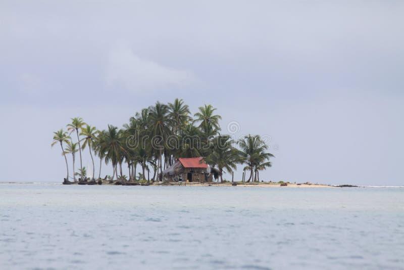 Хижина островов Сан Blas стоковое фото