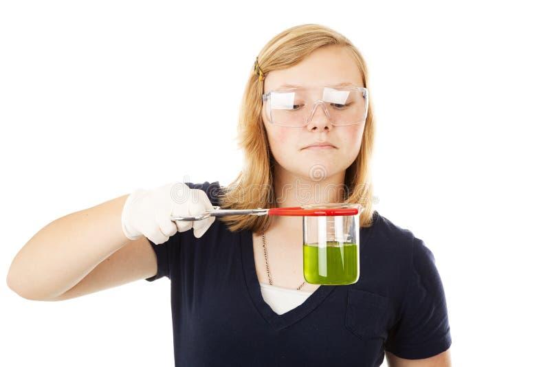 химик предназначенный для подростков стоковые изображения