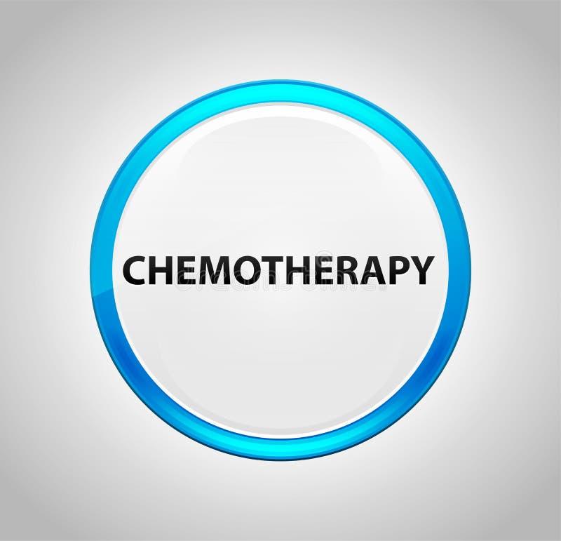 Химиотерапия вокруг голубой кнопки иллюстрация вектора